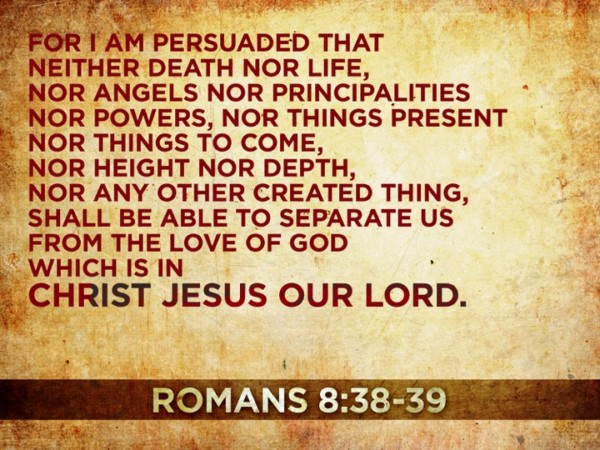 Nothing Shall Separate us from Gods love-verse